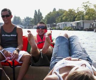 Amsterdam boat renting Boaty Amstel river tour