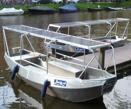 Elektrisch bootje huren 6 personen overdekt