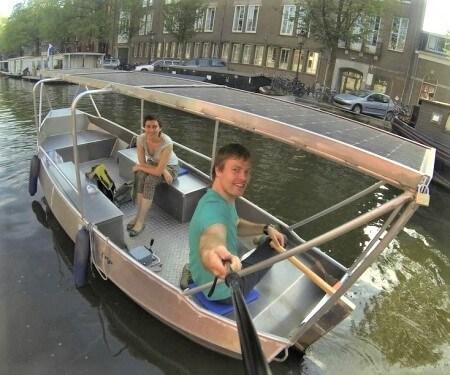 Overdekte sloep huren Amsterdam