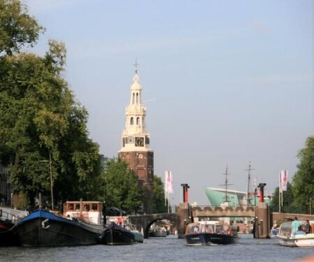 Vaarroute Amsterdam Oost Montelbaanstoren