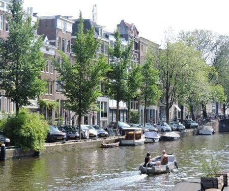 Vaarroute Amsterdam Prinsengracht