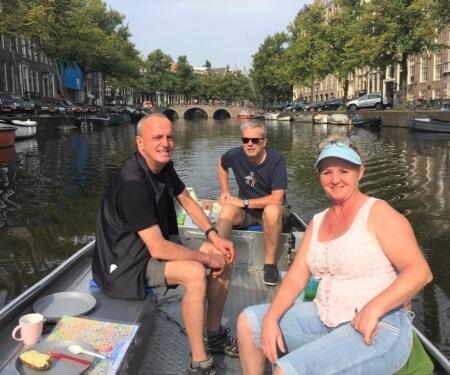 Vaarroute Amsterdamse grachten