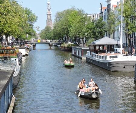 Vaarroutes centrum Amsterdam Prinsengracht