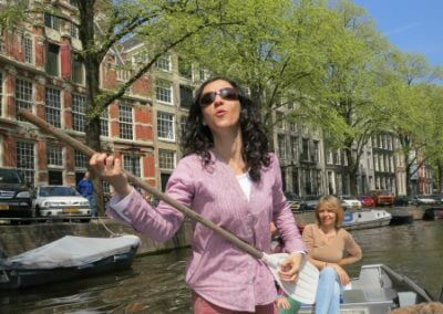Zingende sirene boothuur Amsterdam