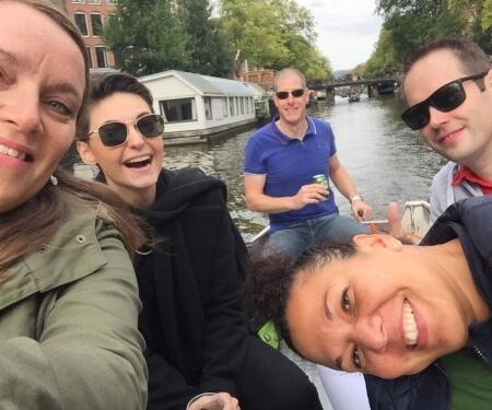 Personeelsuitje boot Amsterdam